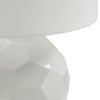 Modern Drum Shade Table Lamp - White