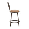 Curve X-Back Wood Trim 3-Pack Adjustable Stools - Bronze Finish