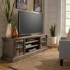 Brown Wire Brushed Finish TV Stand - 72-inch.