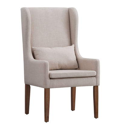 Slipcovered Wingback Parson Chair - Beige - No Slipcover
