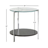 Chrome Finish End Table with Glass Top