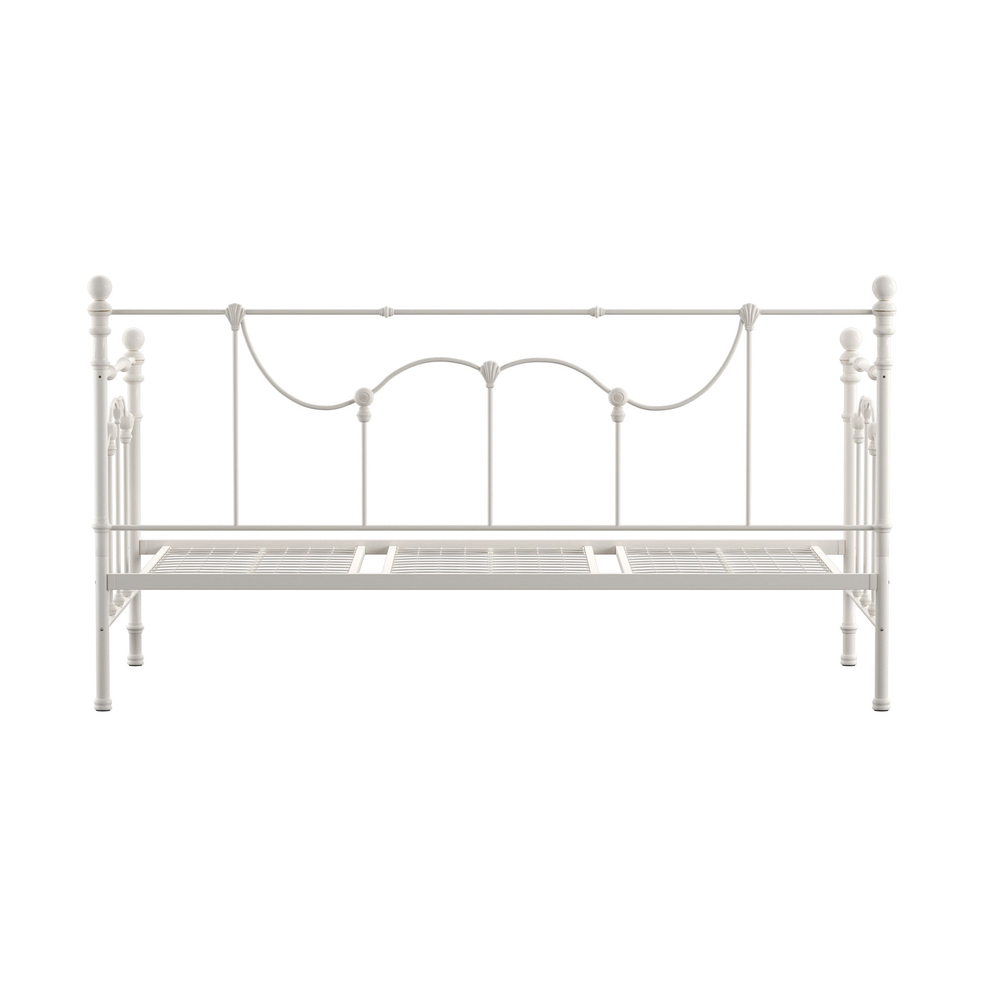 Victorian Iron Metal Daybed - Antique White