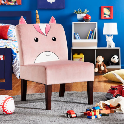 Velvet Unicorn Accent Chair