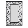 Metal Geometric Rectangular Wall Mirror - Black Finish