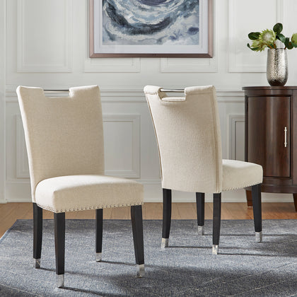 Heathered Weave Parsons Dining Chairs (Set of 2) - Side Chairs