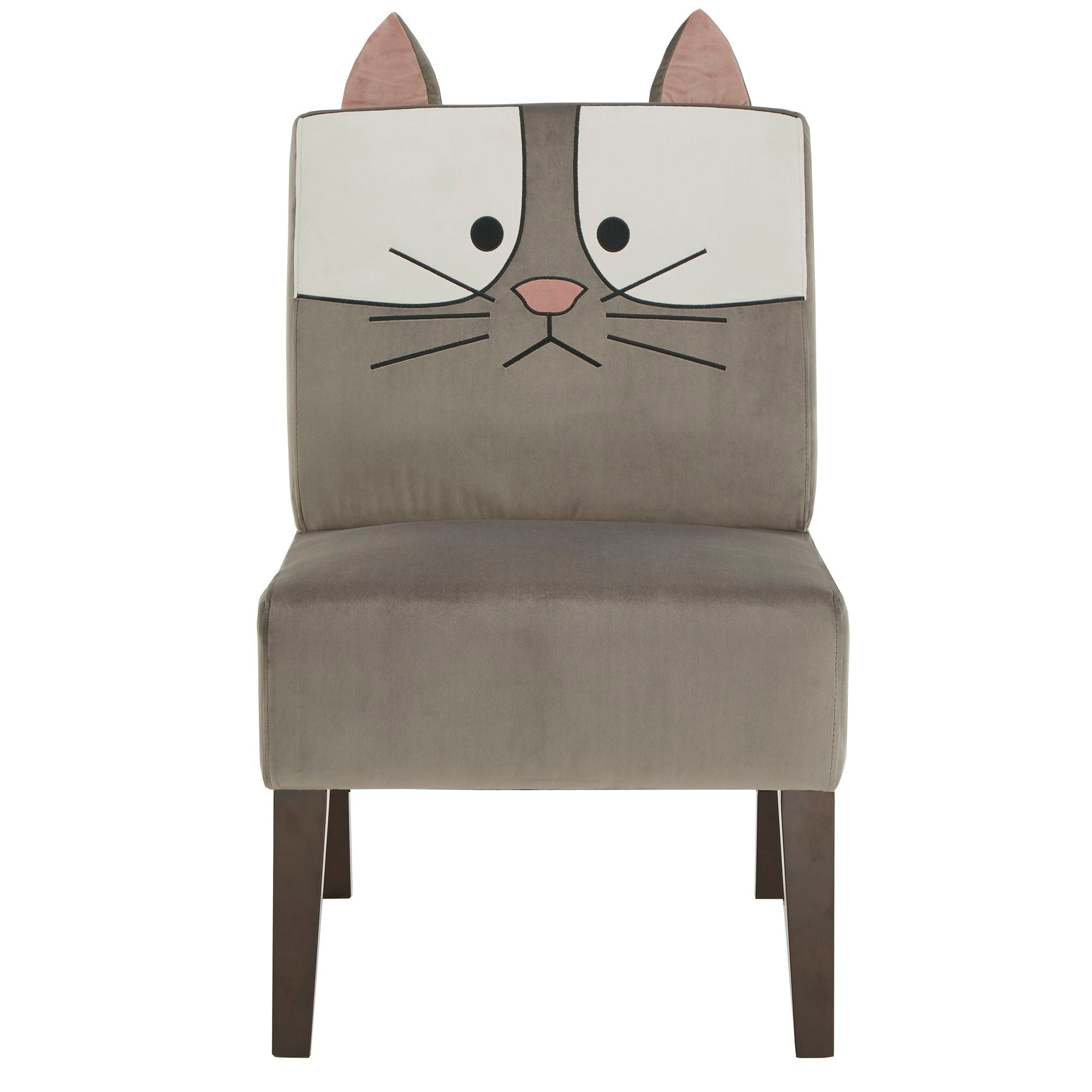 Velvet Animal Accent Chair - Cat