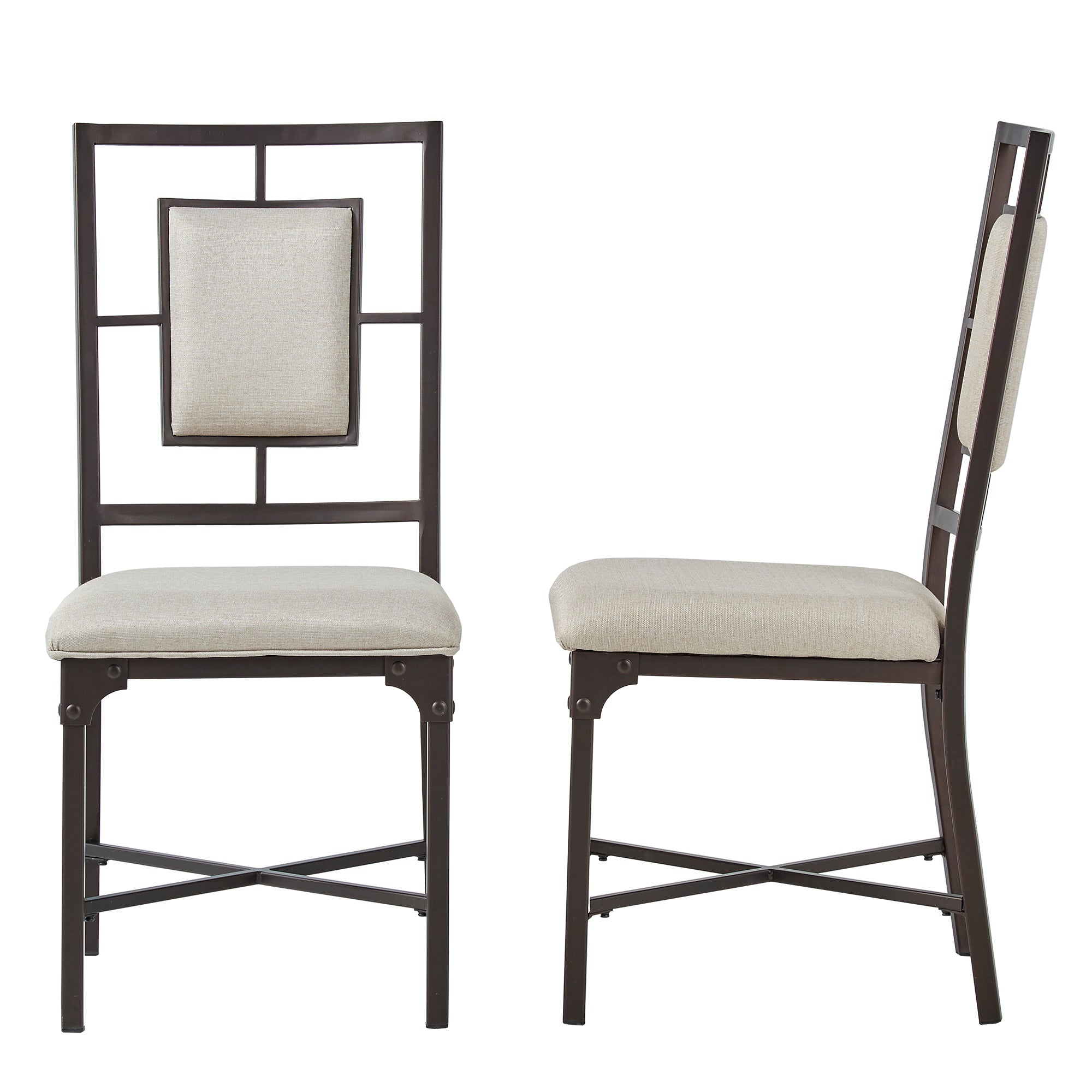 Bronze Industrial Dining Chairs (Set of 2)