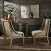 Antique Grey Oak Cane Accent Chairs (Set of 2)