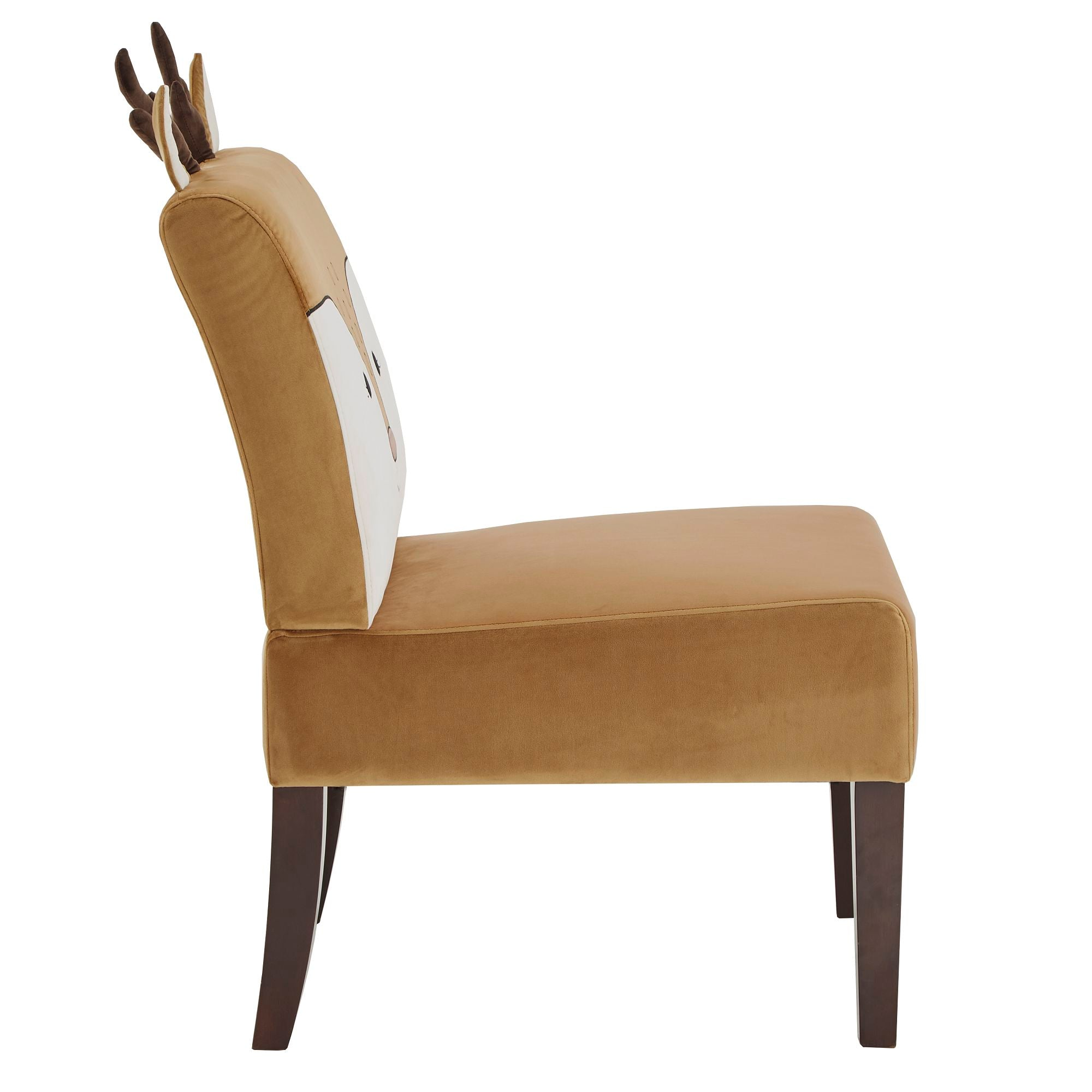 Velvet Animal Accent Chair - Deer