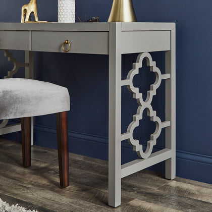 2-Drawer Writing Desk - Frost Grey Finish