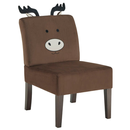 Velvet Animal Accent Chair - Moose