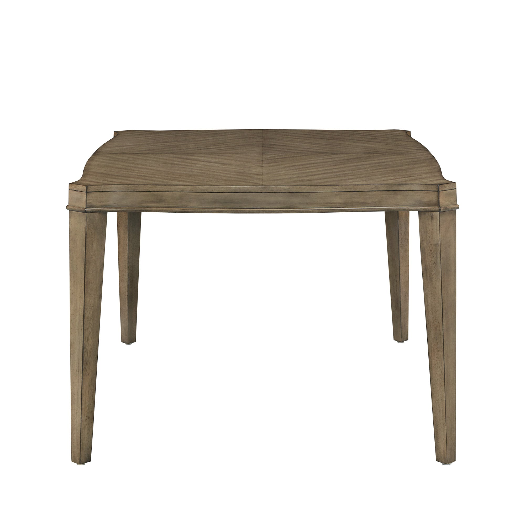 Antique Taupe Wood Extending Dining Table