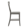 Panel Back Wood Counter Height Chair (Set of 2) - Antique Grey