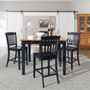 "Slat Back Wood 24.2""H Bar Stool (Set of 2)"