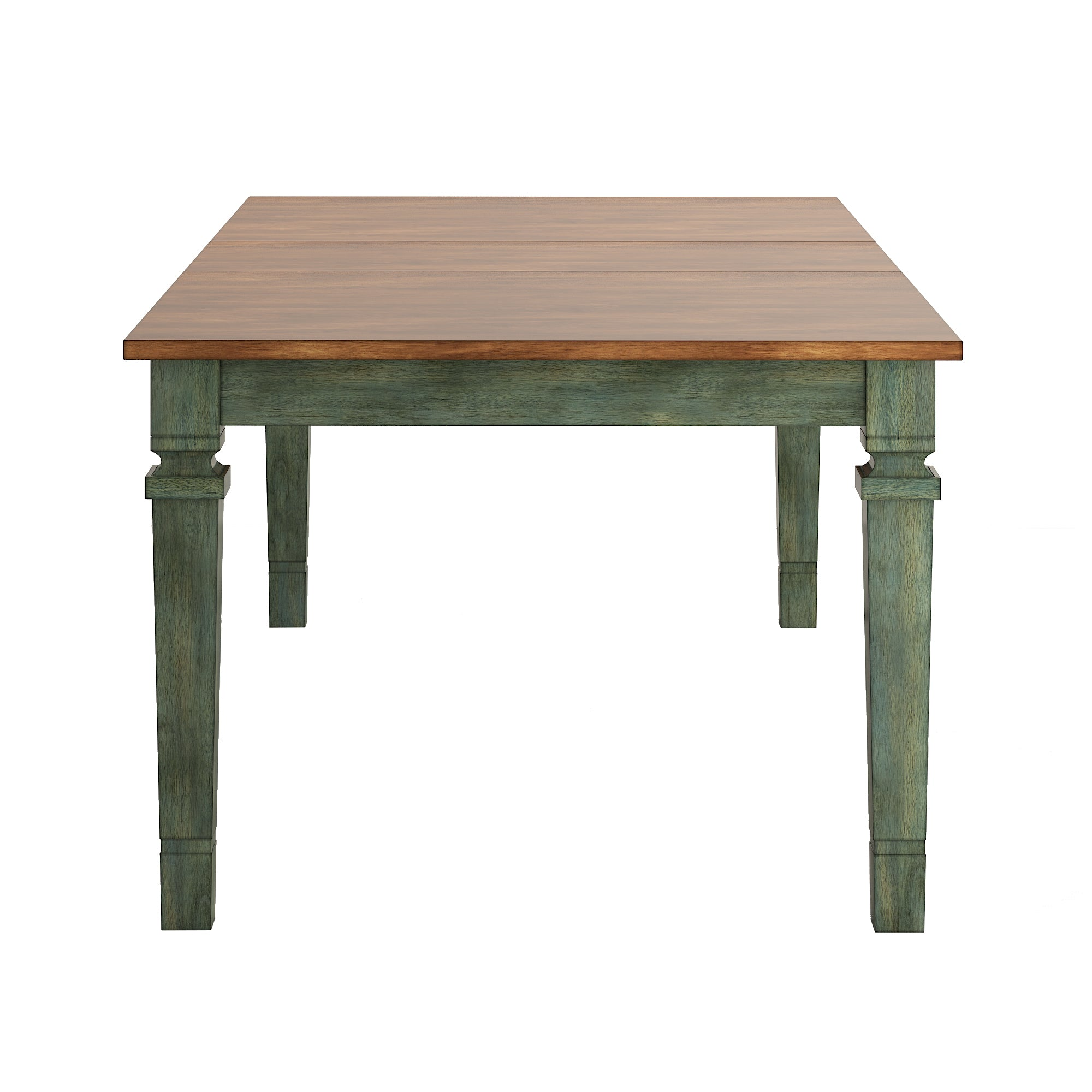 Solid Wood Extendable Dining Table - Green
