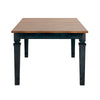 Solid Wood Extendable Dining Table - Antique Dark Denim Blue