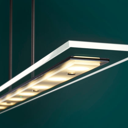 Modern Light Rods LED Pendant - White Finish