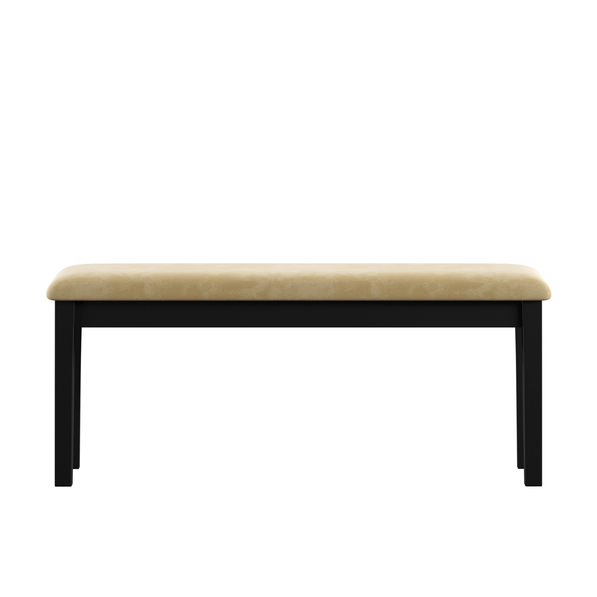 Black Wood Dining Bench