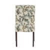 Wingback Dining Chairs (Set of 2) - Abstract Leaf Print Fabric