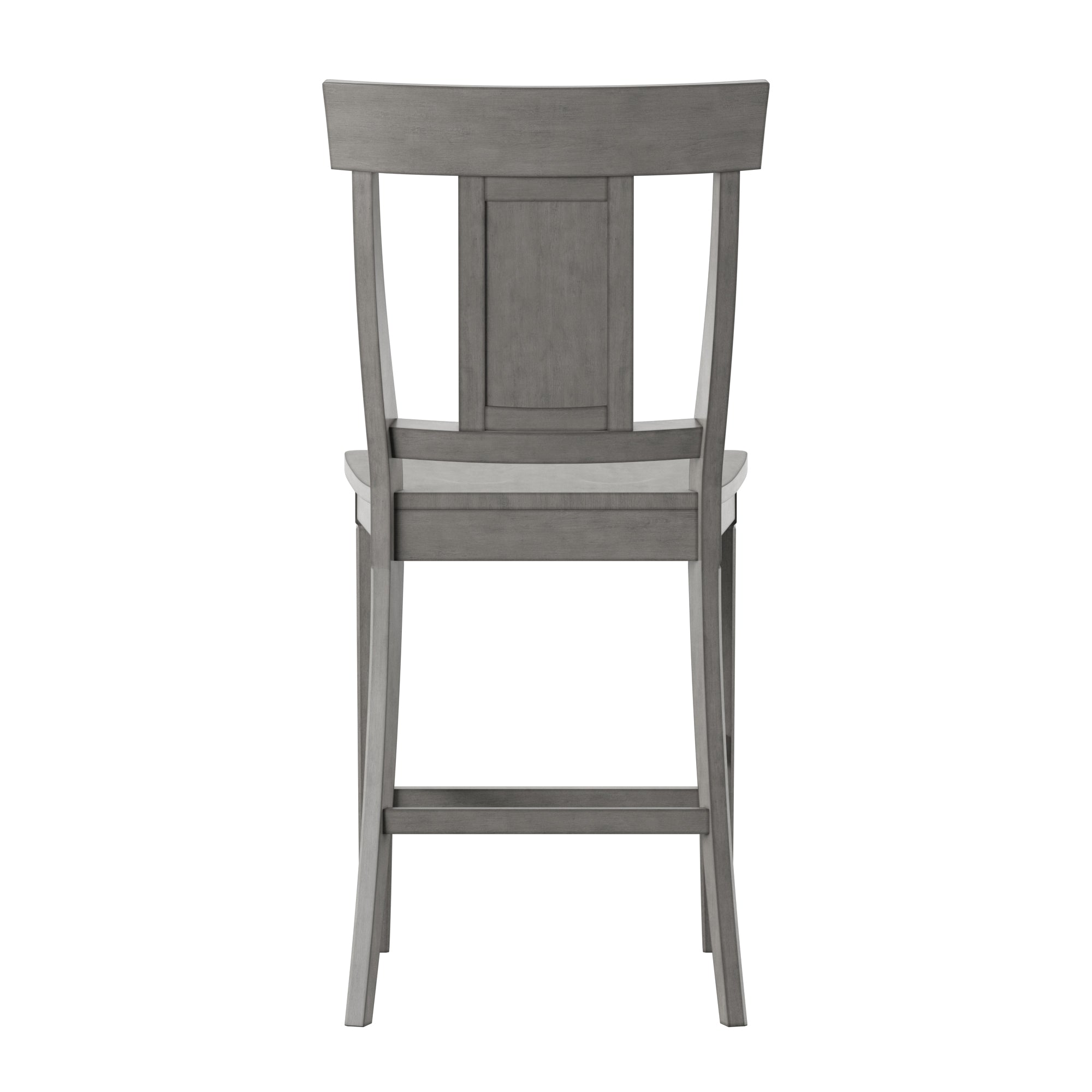 Panel Back Wood Counter Height Chairs (Set of 2) - Antique Grey