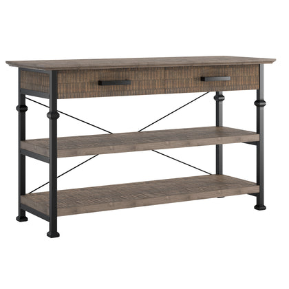 Industrial Modern Rustic Media TV Stand Console