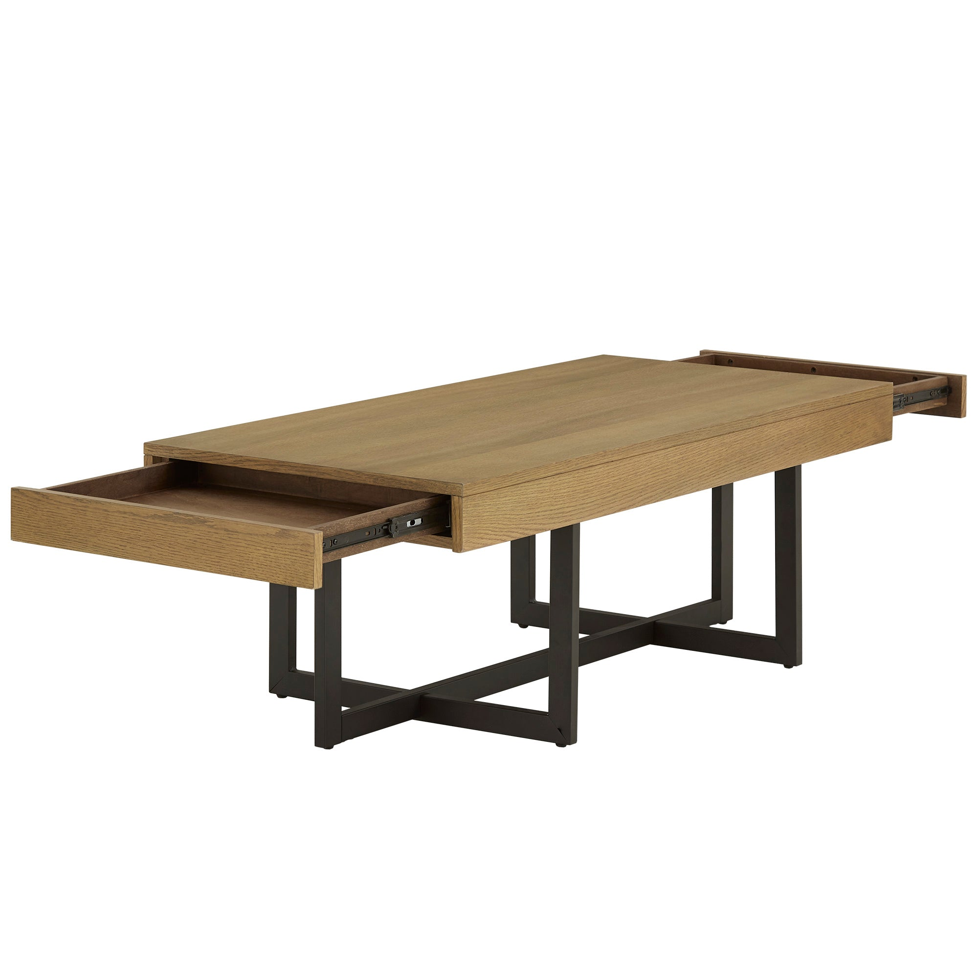 Wood Finish Table with Drawer(s) - Oak Finish