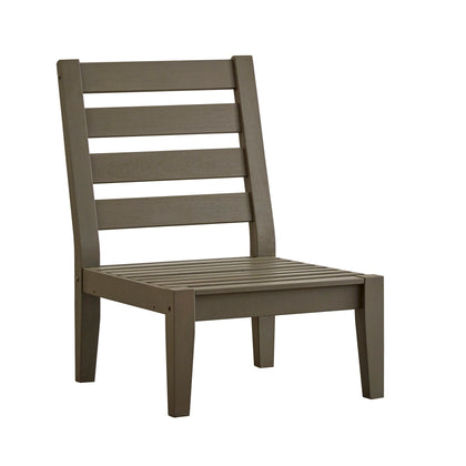 Grey Wood Finish Outdoor Patio Chair