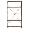 Vintage Industrial Rustic 40-inch Bookcase - Brown Finish