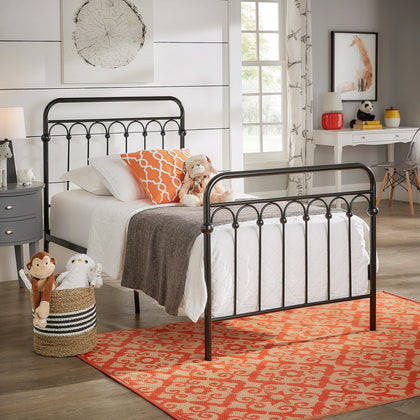 Metal Arches Platform Bed - Black