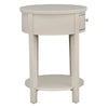 1-Drawer Oval End Table - Silver Birch
