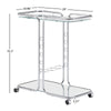 Chrome Finish Bar Cart with Mirror Top and Bottom