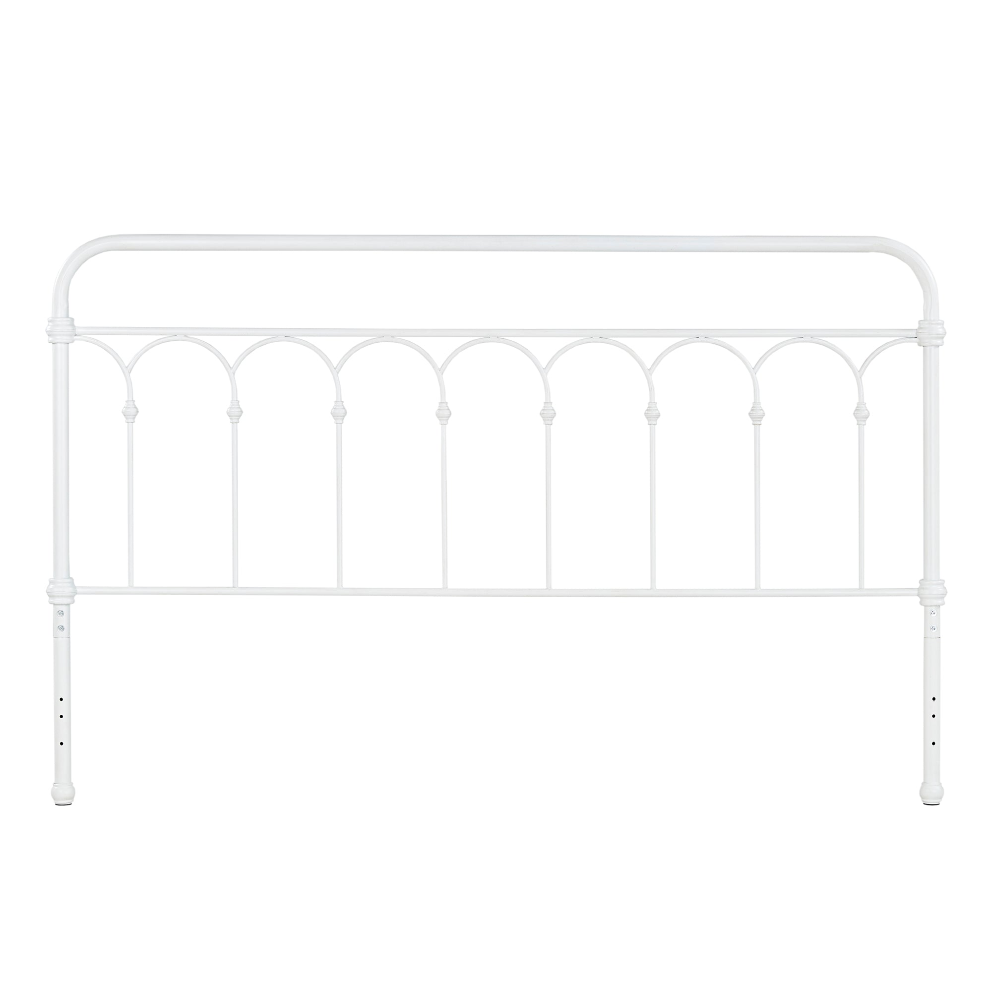 Casted Knot Metal Bed - Antique White - King (King Size)