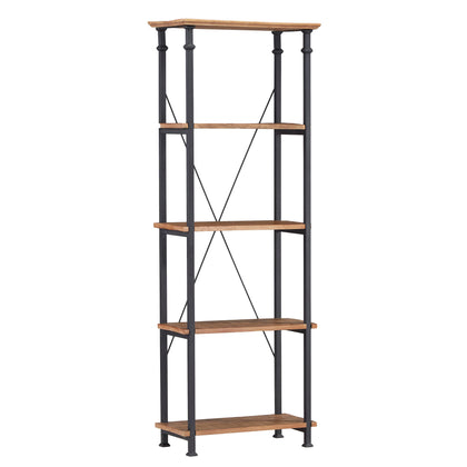 Vintage Industrial Rustic 26-inch Bookcase - Oak Finish