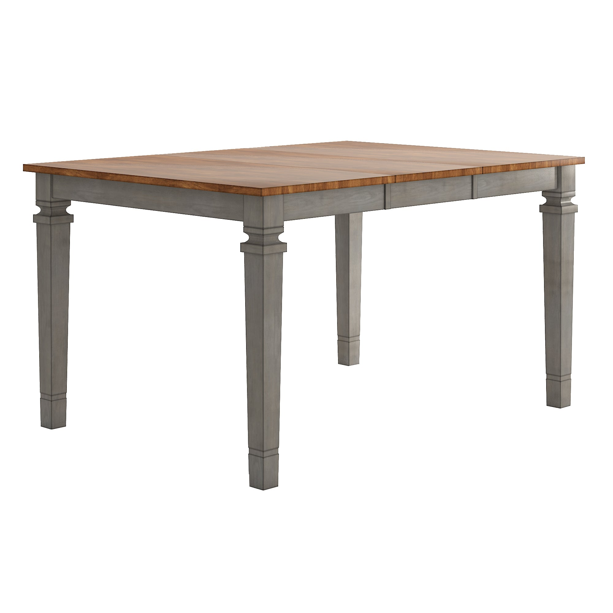 Solid Wood Extendable Counter Height Dining Table - Antique Grey
