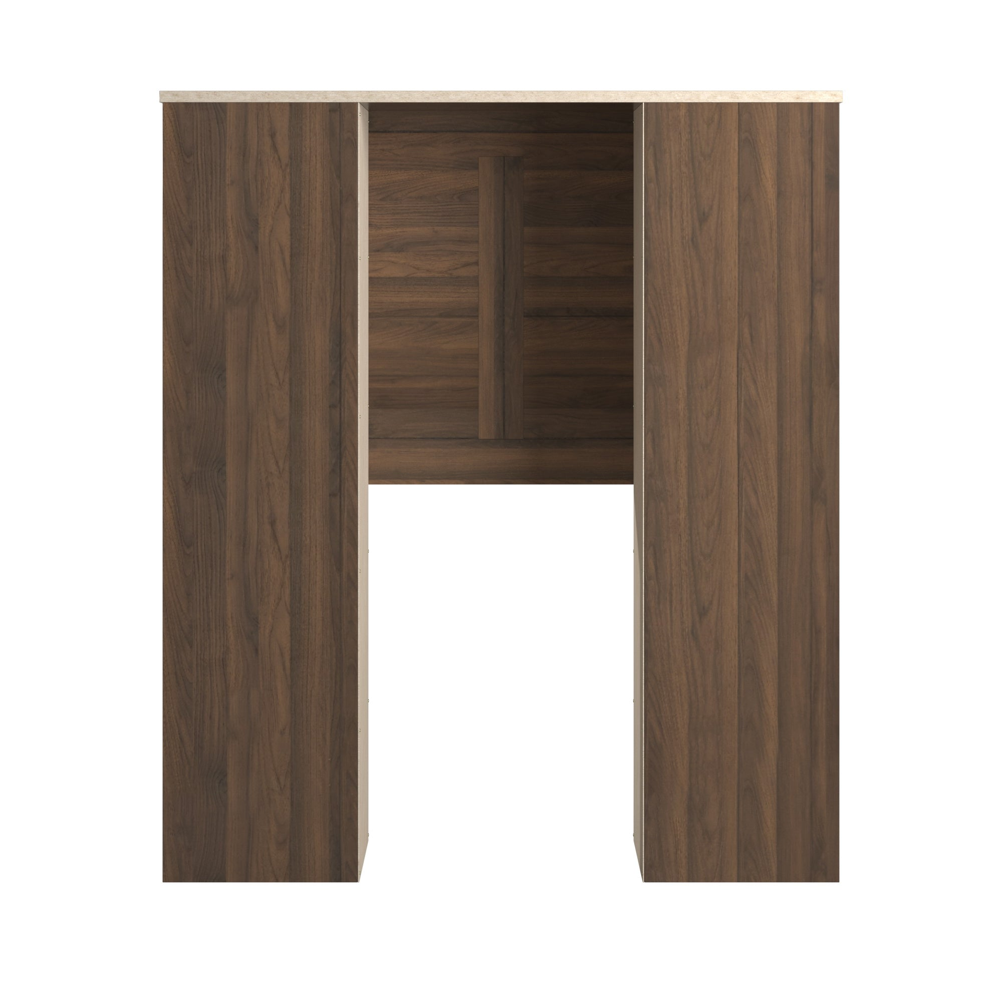 Walnut Finish Twin Storage Headboard - Twin