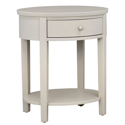 Silver Birch Oval Nightstand
