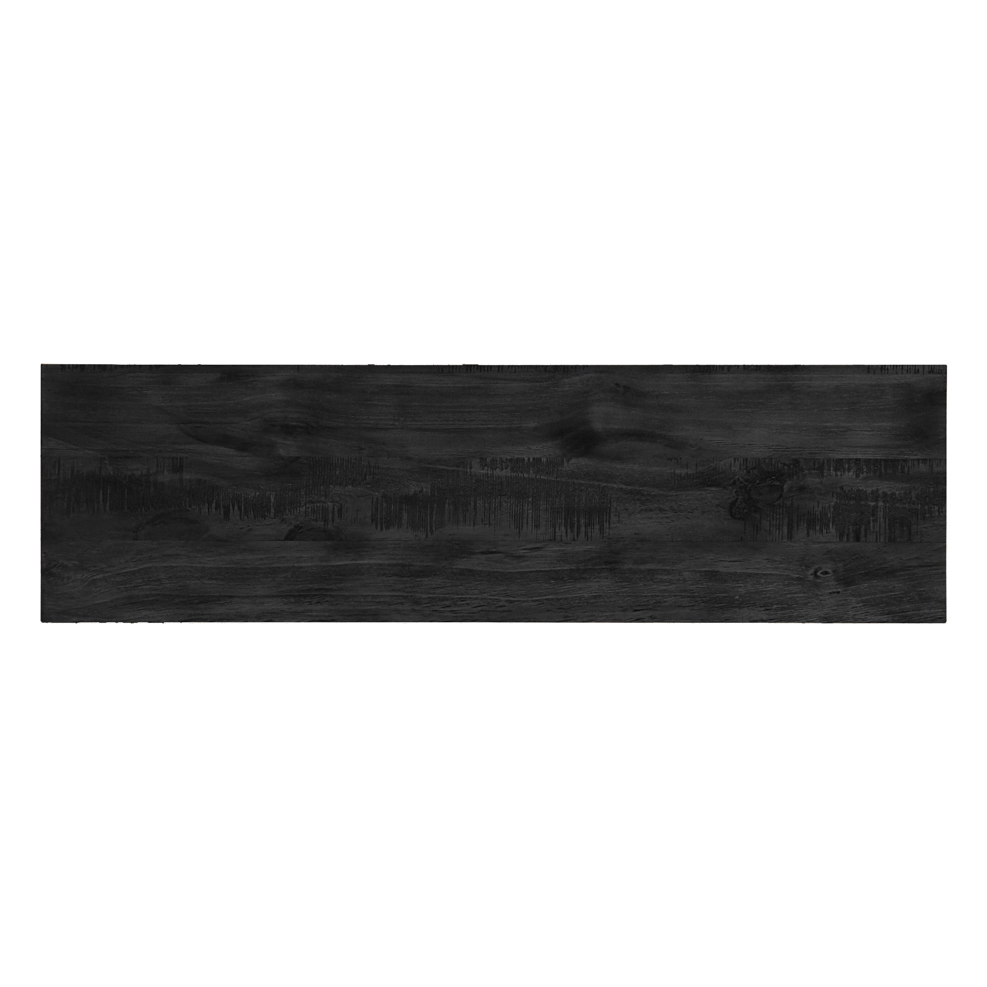 Rustic X-Base 60-inch TV Stand - Black Finish