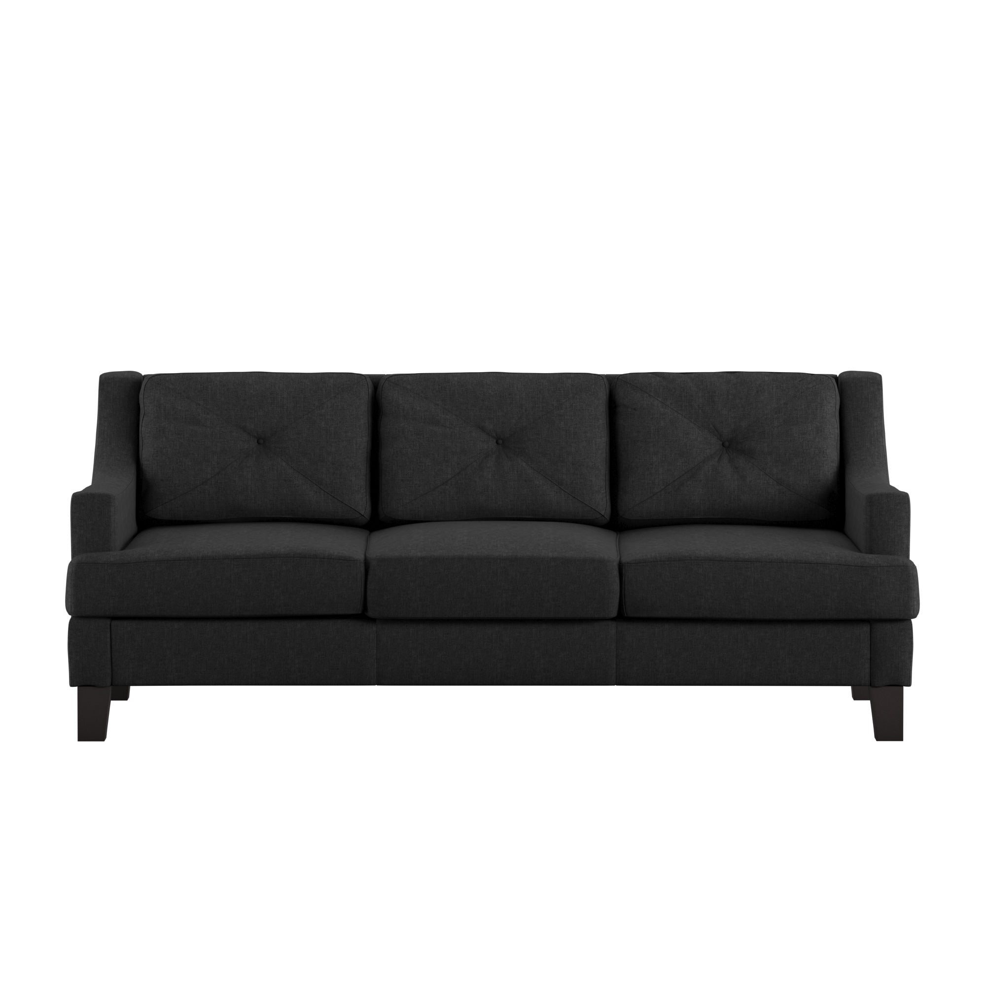 Linen Tufted Sloped Track Sofa