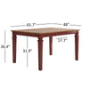 Solid Wood Extendable Counter Height Dining Table - Antique Berry Red