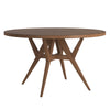 Round Walnut Dining Table - Walnut Finish Top