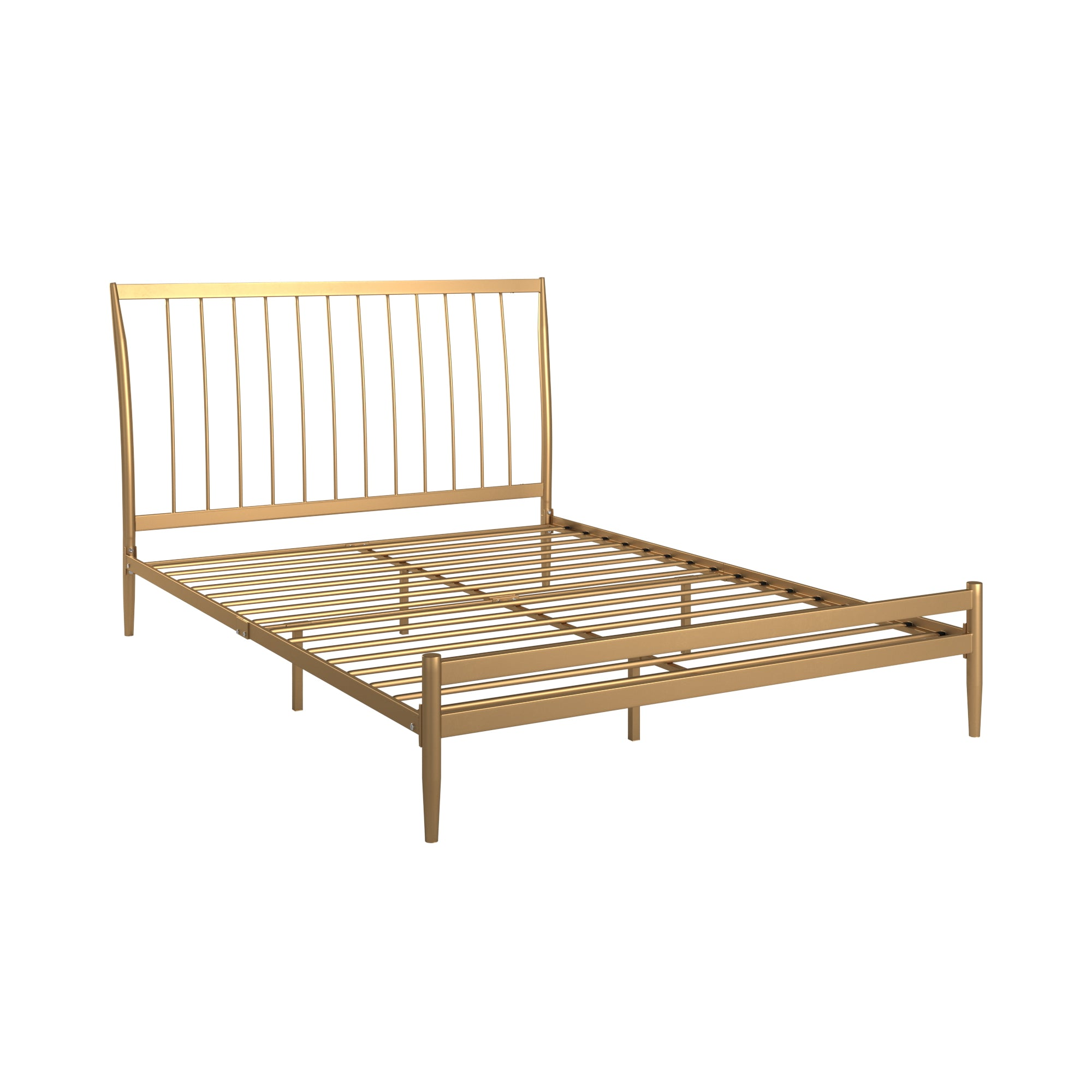 Gold Finish Metal Bed - Full (Full Size)