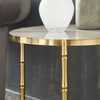 Stainless Steel Nesting Tables - Gold Finish Base, Marble Glass Top