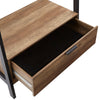 Matte Black Metal 1-Drawer Hall Tree
