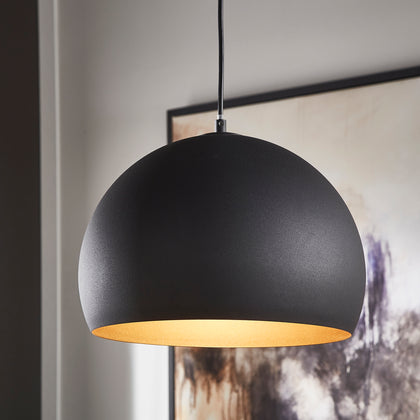 Modern Black Dome Pendant Light