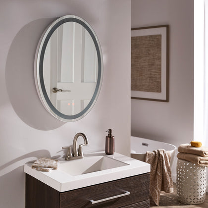 Touch LED Anti-Fog Oval Vanity Wall Mirror