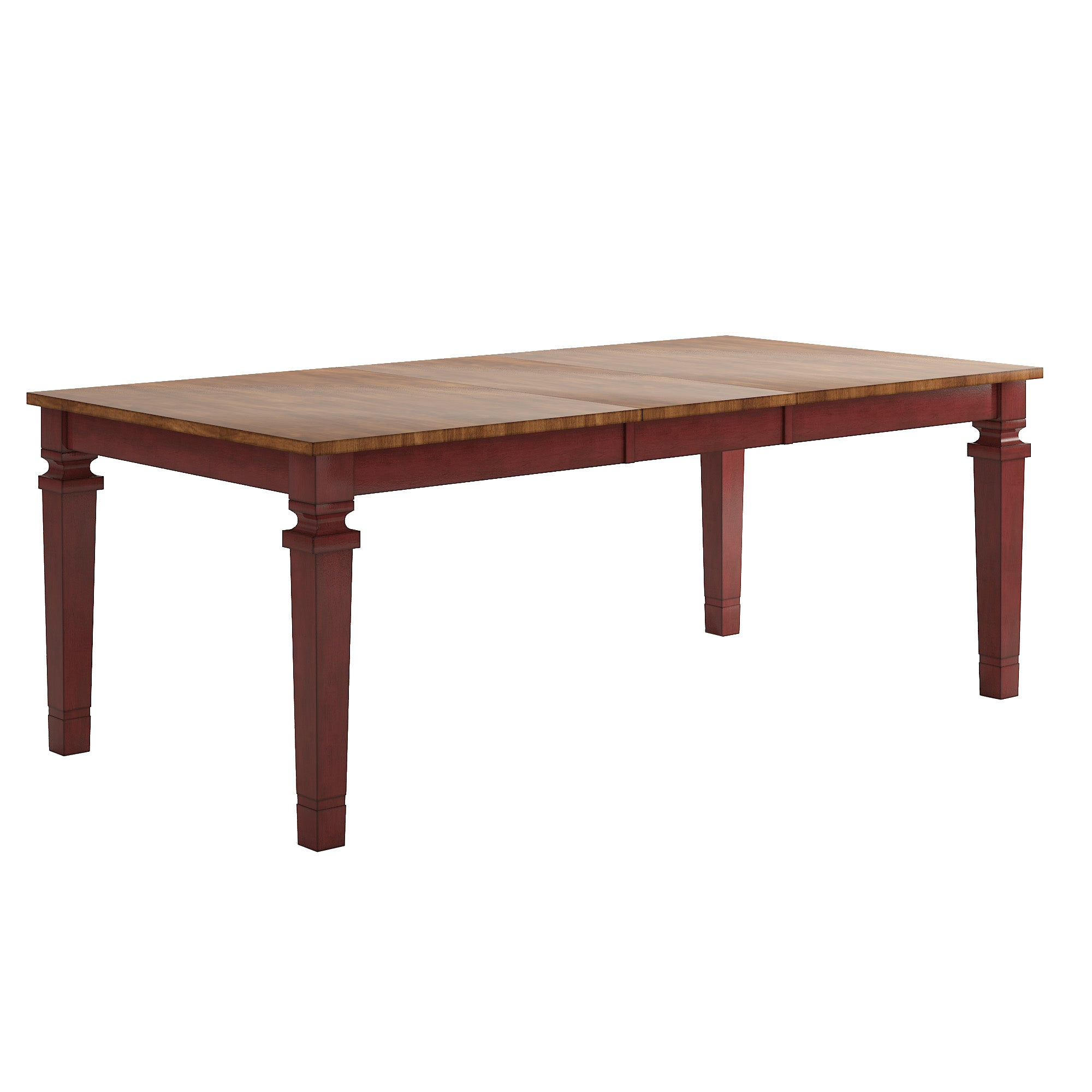 Solid Wood Extendable Dining Table - Red