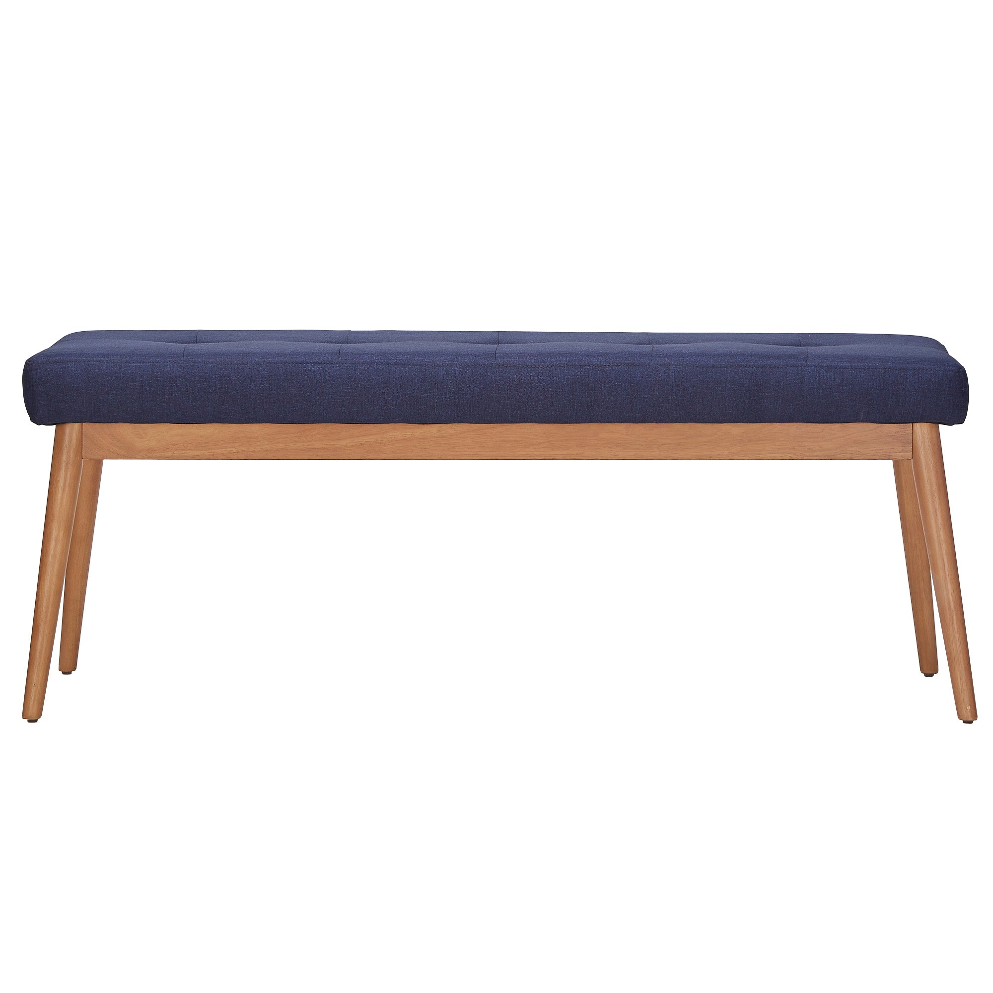 Oak Angled Leg Linen Dining Bench