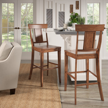 Eleanor Panel Back Bar Height Chairs (Set of 2) by iNSPIRE Q Classic