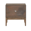 Walnut Finish One Drawer Nightstand