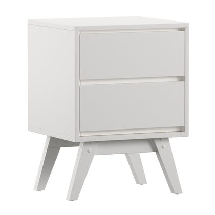 2-Drawer Mid-Century Modern Nightstand